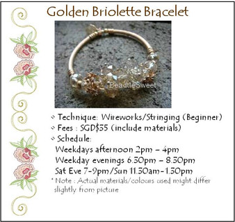 Jewelry Making Course: Golden Briolette Bracelet Workshop