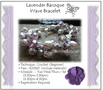 Jewelry Making Course: Lavender Baroque Wave Bracelet Workshop