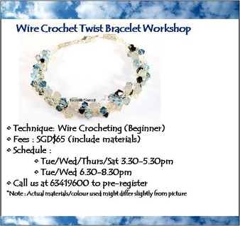 Jewelry Making Course: Wire Crochet Twist Bracelet Workshop