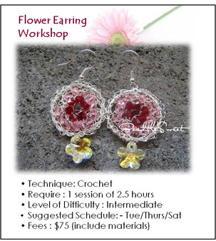Jewelry Making :Flower Earring Workshop