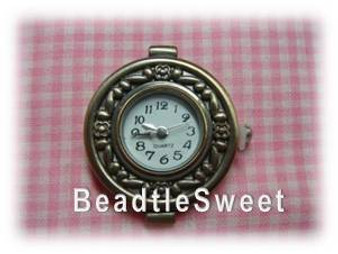 Antique Bronze Watch Face for jewelry making
