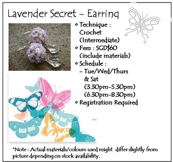 Jewelry Making : Lavender Secret Earring Workshop