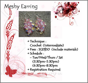 Jewelry Making: Meshy Earring Workshop