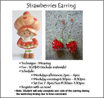 Jewelry Making: Strawberries Earring Workshop