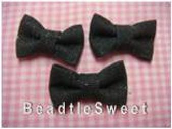 Black Glittery Ribbons