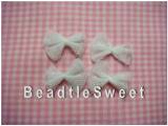 Mini White Netted Ribbons