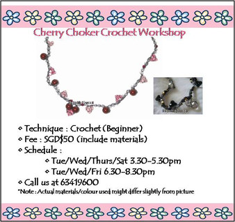 Jewelry Making Course: Cherry Choker Crochet Workshop