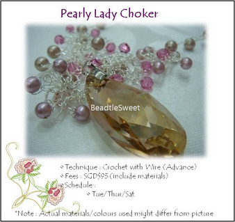 Jewelry Making Course: Pearly Lady Choker Workshop