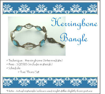 Jewellery Making Course: Herringbone Bangle