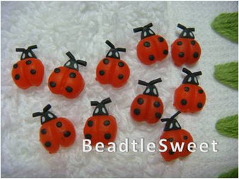 Nail Art Accessories in Red Ladybird