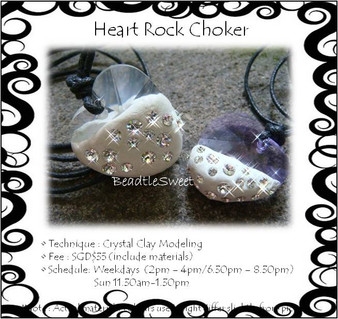 Jewelry Making Course: Heart Rock Choker Workshop