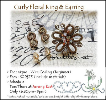 Jewelry Making: Curly Floral Rings & Earrings