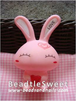 Shy Rabbit Decoden: Super 3D plush toy decobase