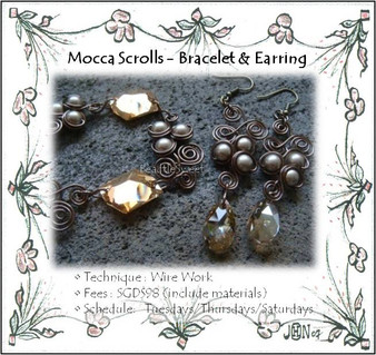 Jewelry Making: Mocca Scrolls Bracelet & Earrings Workshop