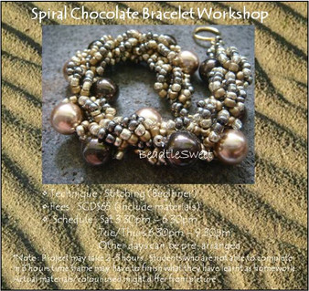 Jewelry Making Course: Spiral Chocolate Bracelet Workshop