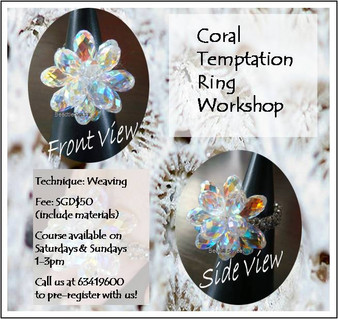 Jewelry Making: Coral Temptation Ring Workshop