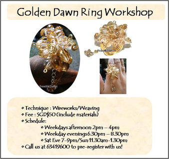 Jewelry Making: Golden Dawn Ring Workshop