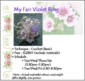 Jewelry Making: My Fair Violet Ring Workshop