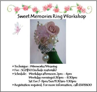 Jewelry Making: Sweet Memories Ring Workshop