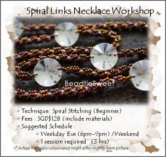 Jewelry Making Course : Spiral Links Necklace Workshop