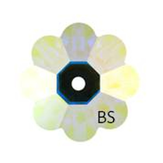 10mm Swarovski 3700 Crystal AB Foiled Margarita Bead