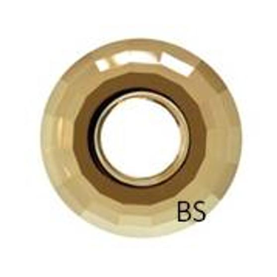 25mm Swarovski 6039 Crystal Golden Shadow Disk Pendant