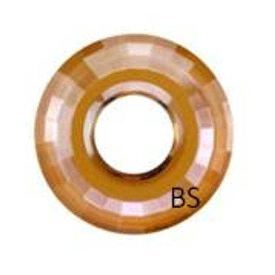 25mm Swarovski 6039 Crystal Copper Disk Pendant