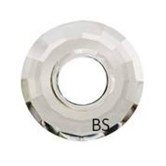 38mm Swarovski 6039 Crystal Silvershade Disk Pendant