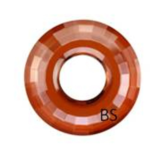 38mm Swarovski 6039 Crystal Red Magma Disk Pendant