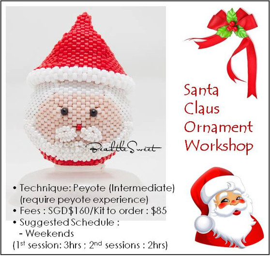 Jewelry Making Course : Santa Ornament Workshop