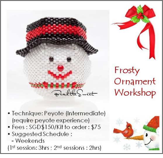 Jewelry Making Course : Frosty Ornament Workshop