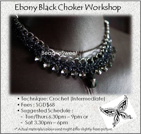 Jewelry Making Course : Ebony Black Choker Workshop