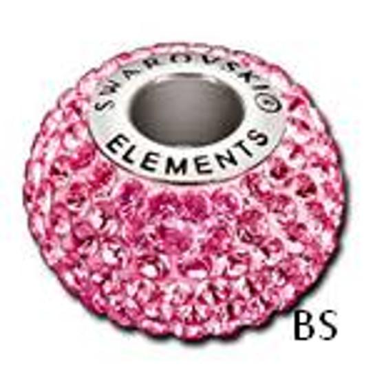 Swarovski BeCharmed Pave Bead 80101 Rose