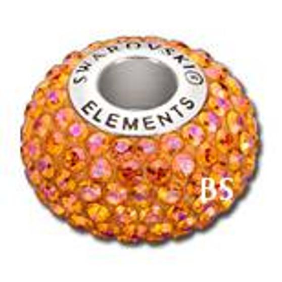 Swarovski BeCharmed Pave Bead 80101 Astral Pink