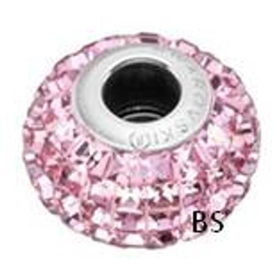 Swarovski BeCharmed Pave Bead 80201 Light Rose