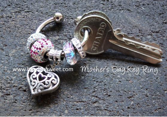 Swarovski BeCharmed Key Ring - Mother's Day Edition