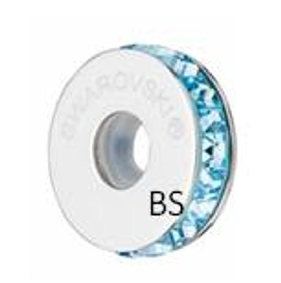 Swarovski BeCharmed Pave Stopper 81001 Aquamarine