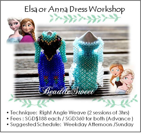 Elsa and Anna Dress Making Workshop
