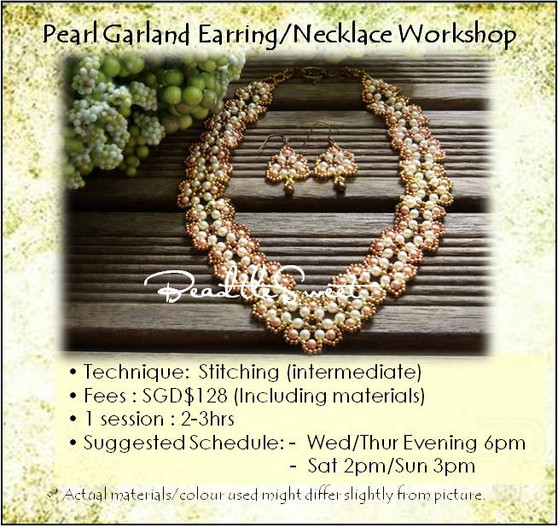 Jewelry Making Course : Pearl Garland Earring and Necklace Workshop