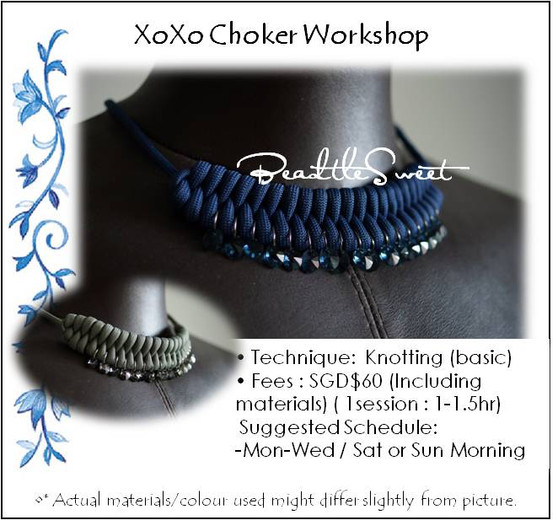 Jewelry Making Course in Singapore : XoXo Choker Workshop