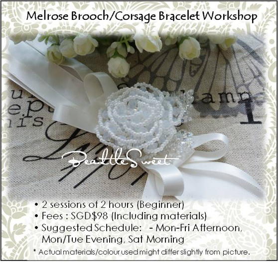 Jewelry Making : Melrose Brooch & Corsage Workshop for Bridal Party