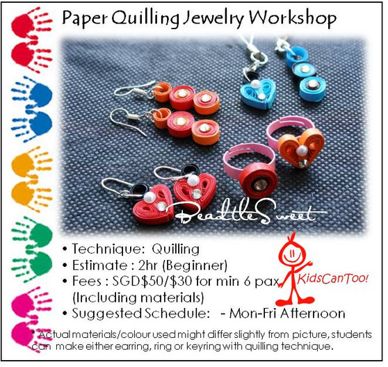 Paper Quilling Jewelry Workshop