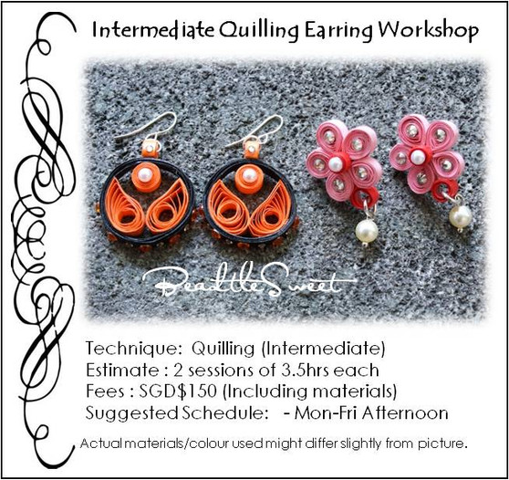 Paper Quilling Earring Workshop (Intermediate)