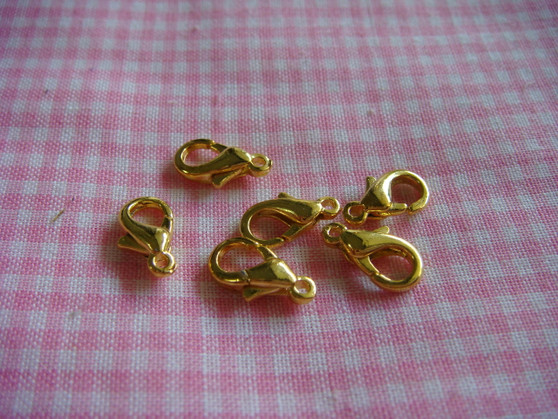 10mm Lobster Claw (Gold)