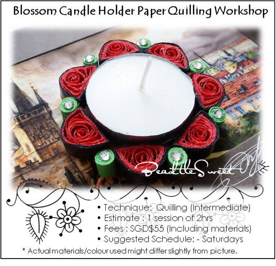 Flower Candle Holder Paper Quilling Workshop (Intermediate)