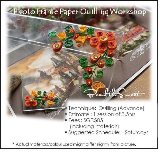 Photo Frame Paper Quilling Workshop (Advance)