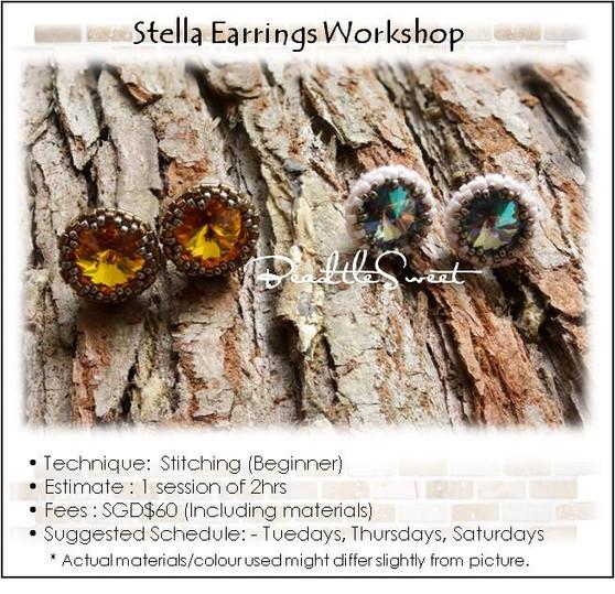 Stella Earring Stitching Workshop