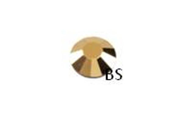 Swarovski 2058 Crystal Aurum Gold Flat Back ss16 nhf