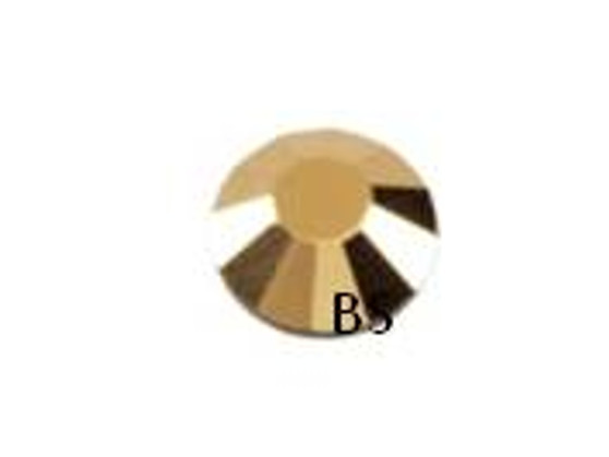 Swarovski 2028 Crystal Aurum Gold Flat Back ss30 nhf