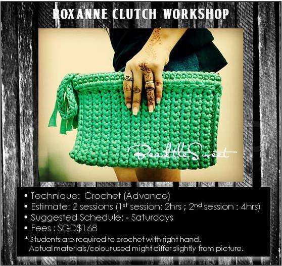 Bags Crochet Course: Roxanne Clutch Bag Workshop